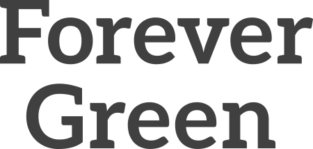 Forever Green gray wordmark