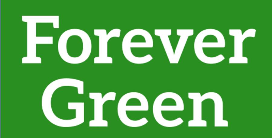 Forever Green white wordmark
